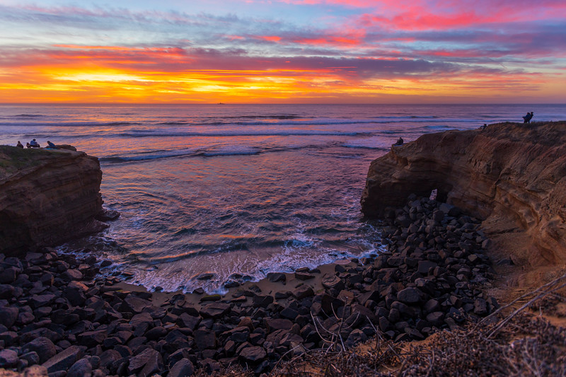 Tonight's Amazing Sunset At Sunset Cliffs.