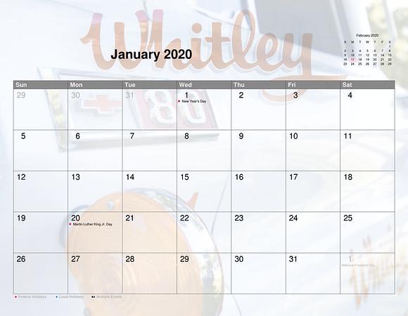 Car Calendar 2020