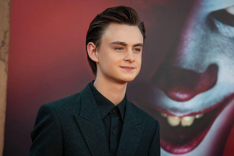 """WESTWOOD, CA - AUGUST 26: Jaeden Martell attends the Premiere Of Warner Bros. Pictures' """"It Chapter Two"""" at Regency Village Theatre on Monday, August 26, 2019 in Westwood, California. (Photo by Tom Sorensen/Moovieboy Pictures)"""