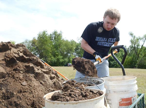 Cemetery excavation