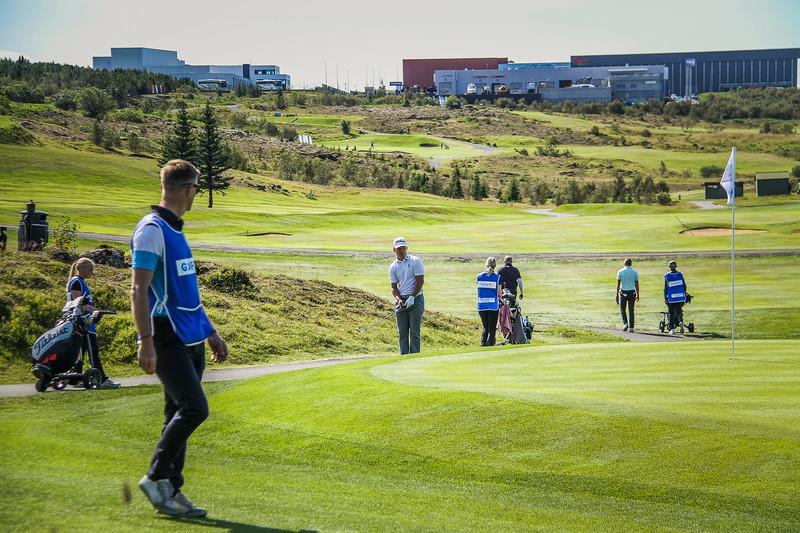 Björn Ósksr Guðjónsson.  Íslandsmót golf 2019 Grafarholt - 1. keppnisdagur. Mynd: seth@golf.is