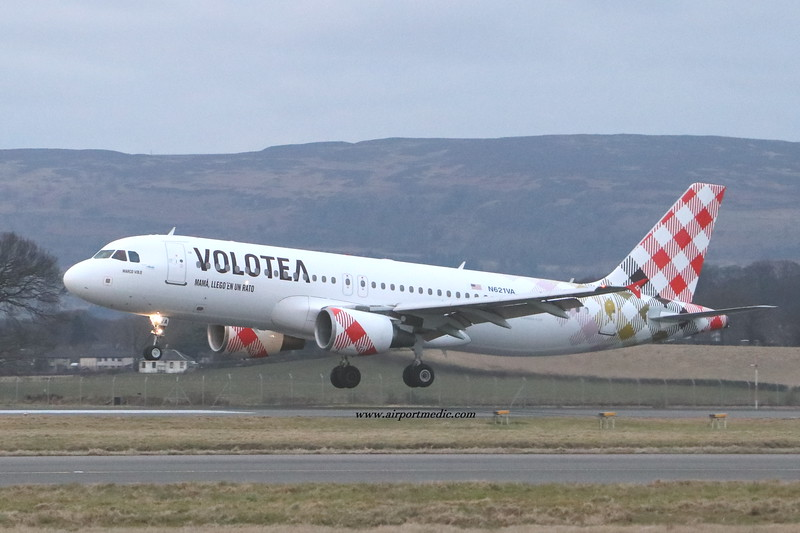 N621VA A320 VOLOTEA @ Glasgow Airport (EGPF)