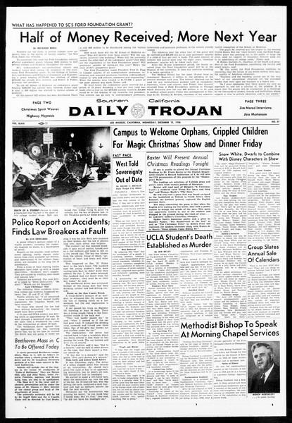 Daily Trojan, Vol. 48, No. 57, December 12, 1956