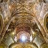 Ceiling and Loft of the Monastery Church of San Jeronímo, Granada, Spain