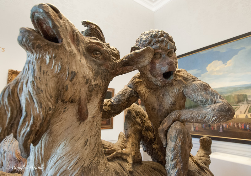 Inside the Chateu Versailles: a statue formerly in a children's garden