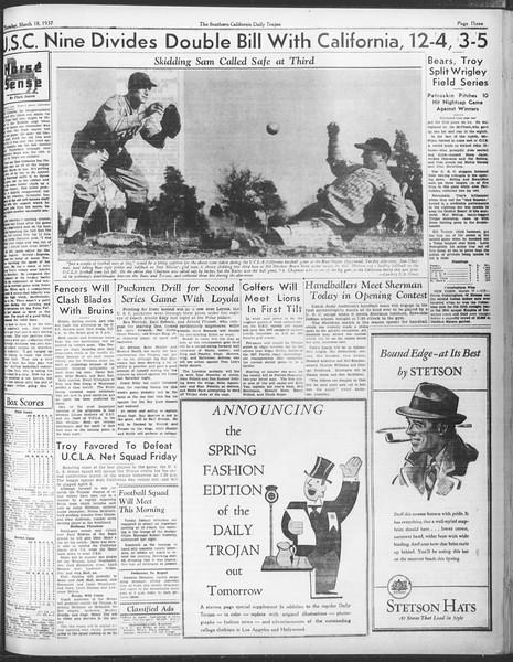 Daily Trojan, Vol. 28, No. 101, March 18, 1937