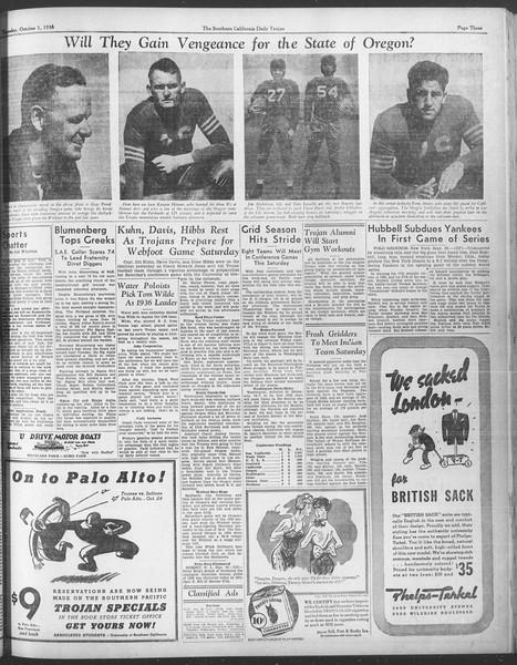 Daily Trojan, Vol. 28, No. 10, October 01, 1936