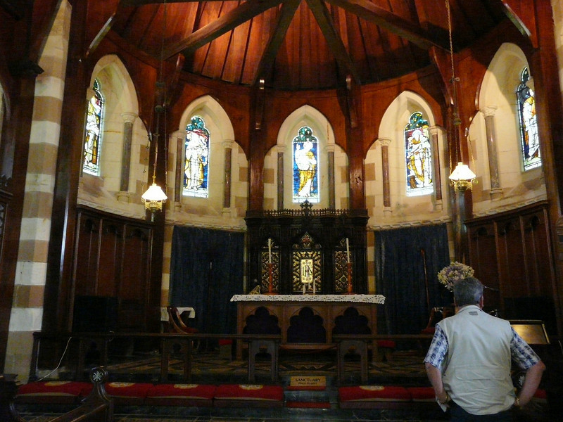 Sunday - Interior of St Barnabas Chapel.