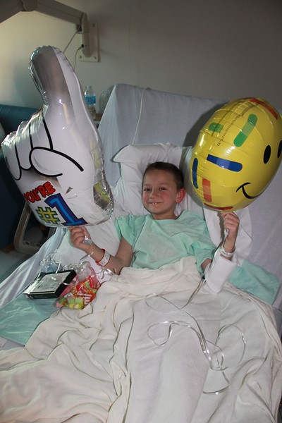 Bubba in Hospital to have Appendix Taken Out, Hospital, Pottsville (4-24-2014)