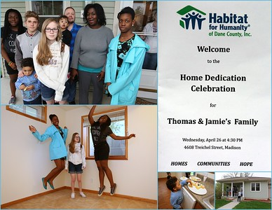 Habitat Home Celebration: Thomas & Jamie's Family 04.26.2017