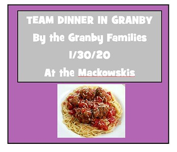 2020_01_30 Wildcats Team Dinner in Granby