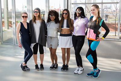 Student Reflective Running Wear at Lunafest