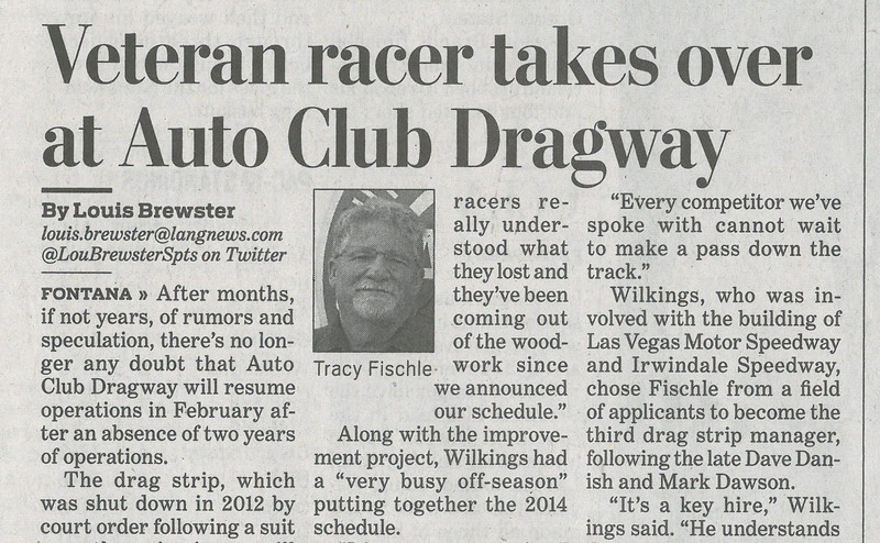 20140131 Pic of Tracy Fischle Dragway Manager in Sun Bulletin.jpg