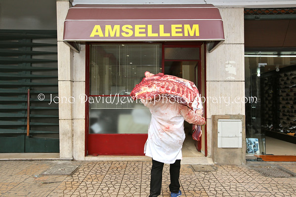 MOROCCO, Casablanca. Amsellem Kosher Butchery (3.2015)