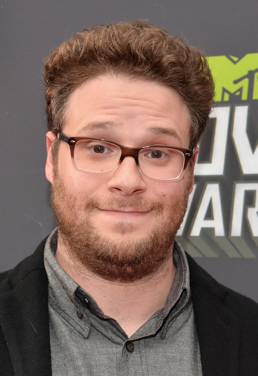 . Actor Seth Rogen arrives at the 2013 MTV Movie Awards at Sony Pictures Studios on April 14, 2013 in Culver City, California.  (Photo by Alberto E. Rodriguez/Getty Images)