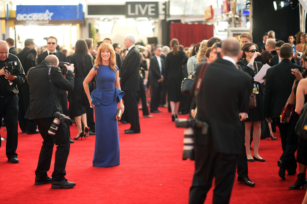 . Comedian Kathy Griffini on the red carpet at the 20th Annual Screen Actors Guild Awards  at the Shrine Auditorium in Los Angeles, California on Saturday January 18, 2014 (Photo by Hans Gutknecht / Los Angeles Daily News)