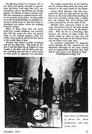 Charlestown Fires - September 24, 1935