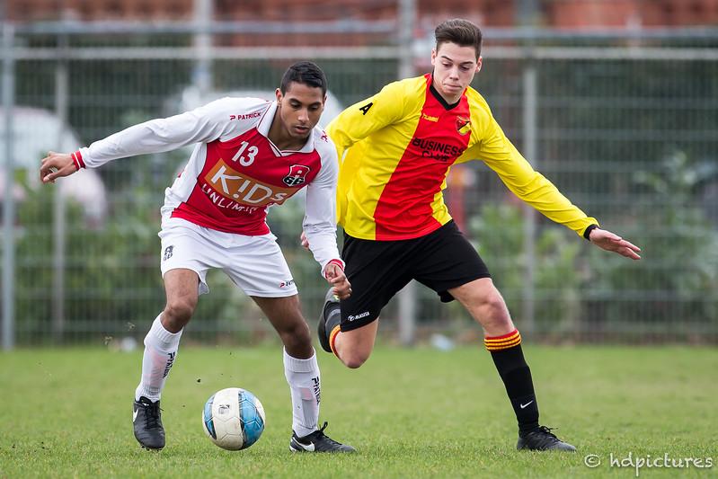 04-03-2017: Voetbal: Alexandria'66 O19-2 v DOSR O19-1: Rotterdam  1/8 finale beker seizoen 2016/2017