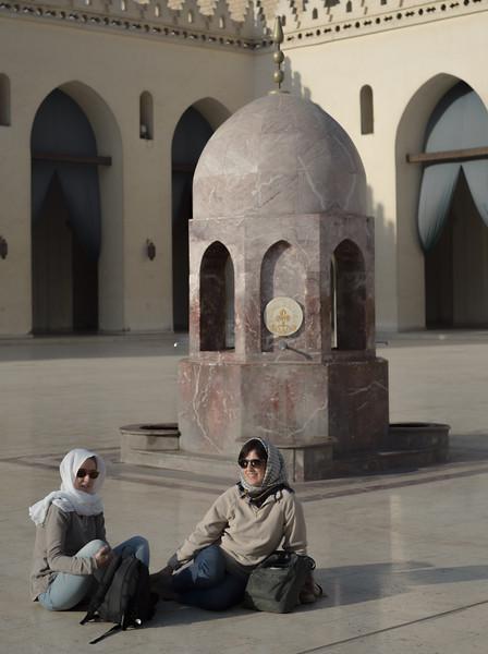 Visitantes en la mezquita. Cairo. Egipto