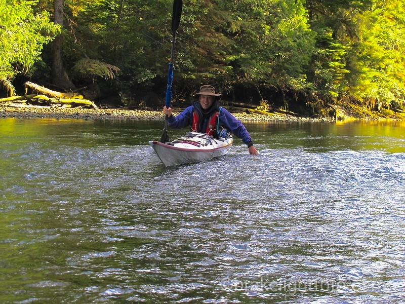 Struggling over Shallows on the San Josef River