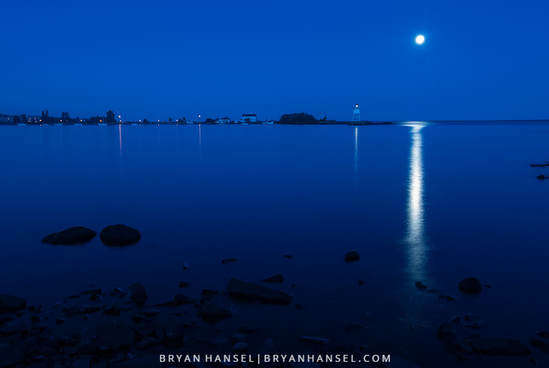 Blue Moon and Blue Hour
