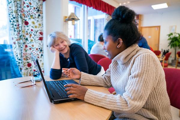 St.Hanshaugen Seniorsenter generasjonsmøte-leksehjelp 09.02.18
