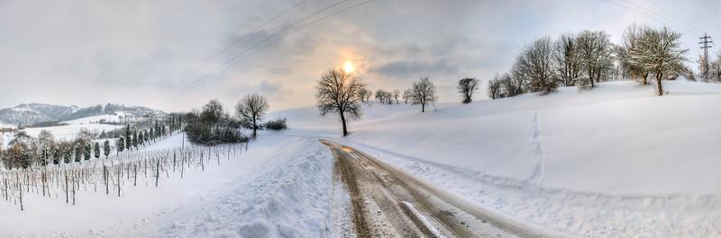 Cold Sunset - Via Monte Evangelo, Castellarano, Reggio Emilia, Italy - February 12, 2012