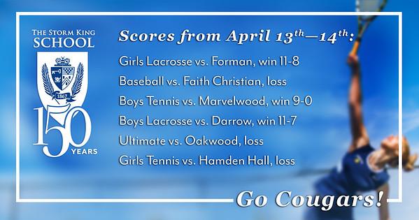 Sports: April 13-14