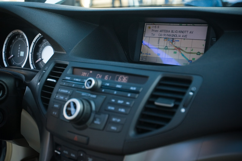Nav system's screen is easy to read, but both of us would have preferred a touchscreen