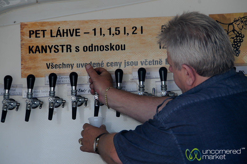 Czech Wine Straight from the Tap - Farmer's Market in Prague