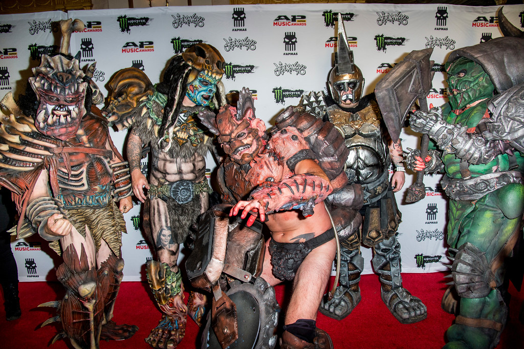 . Musicians from GWAR seen at 2017 Alternative Press Music Awards at the KeyBank State Theatre on Monday, July 17, 2017, in Cleveland. (Photo by Amy Harris/Invision/AP)