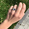 1.55ctw Old Mine Cut and Sapphire Gypsy Ring, GIA 13