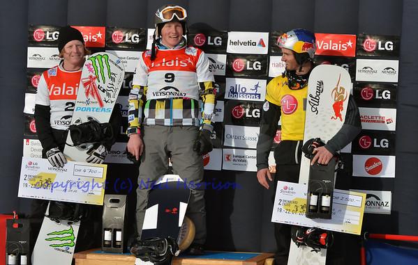 World Cup Snowboard Cross 2012 Podium