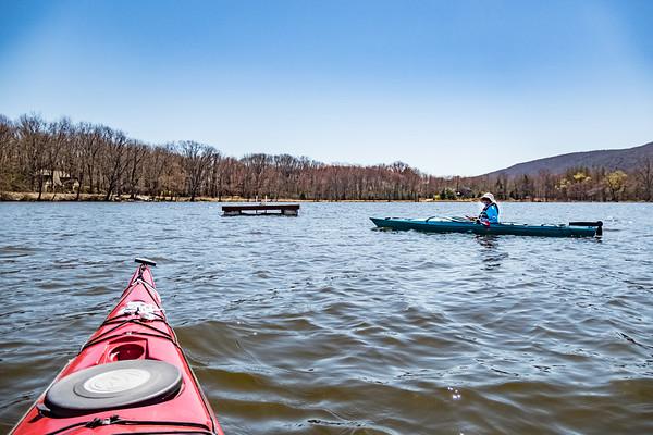 stissing pond kayak april 2020