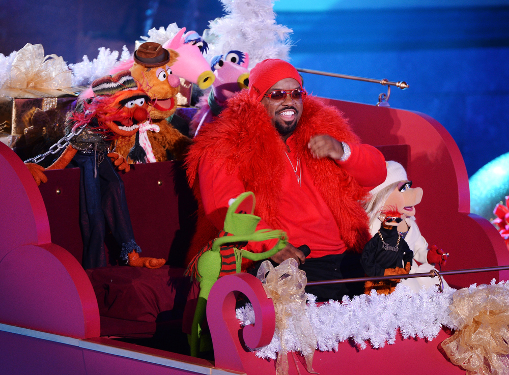 Description of . Singer Cee Lo Green performs at the 80th Annual Rockefeller Center Christmas Tree Lighting Ceremony on November 28, 2012 in New York City.  (Photo by Stephen Lovekin/Getty Images)