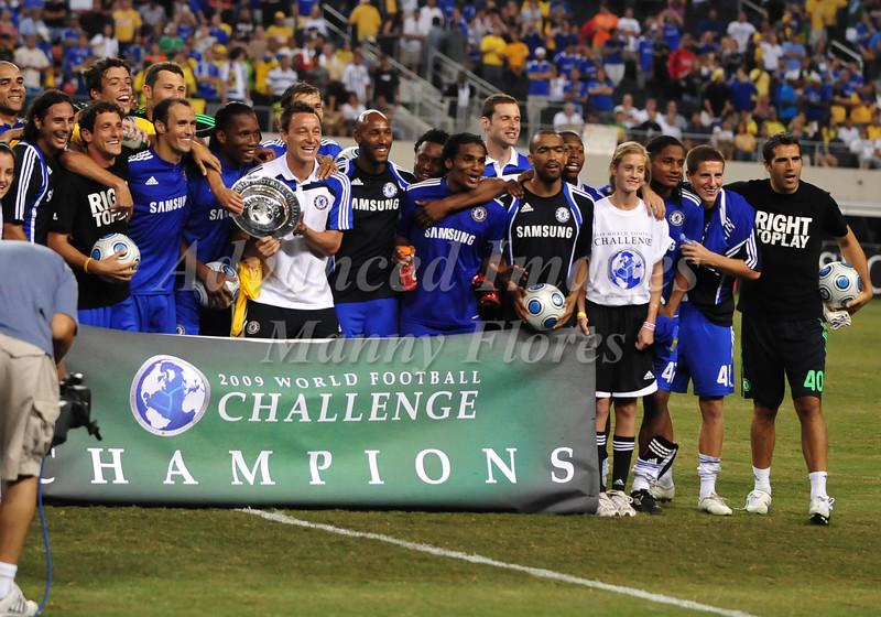 July 26 2009 World Football Challenge - Chelsea FC v Club America:Chelsea are champions at the Cowboys Stadium in Arlington, Texas.Chelsea FC beats Club America 2-0.