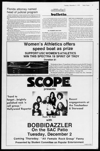 Daily Trojan, Vol. 68, No. 49, December 02, 1975