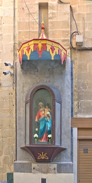 Valletta, Malta.   Shrine on Archbishop Street    03/24/2019