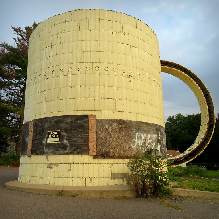 giant cup of coffee building in wilkes-barre pennsylvania
