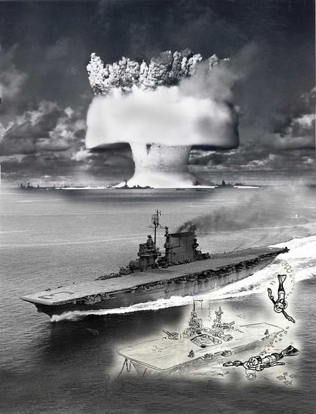 Illustration for diving on the USS Saratoga, Bikini Atoll