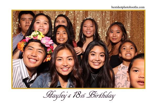 HAYLEYS 18TH BIRTHDAY