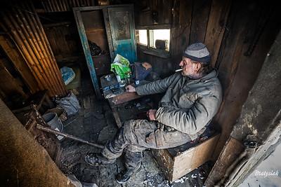2017-01-19 - Chmiel - Wypał węgla drzewnego w Bieszczadach