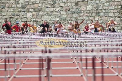 Hurdle Finals - 2012 MHSAA LP D2 T&F Finals