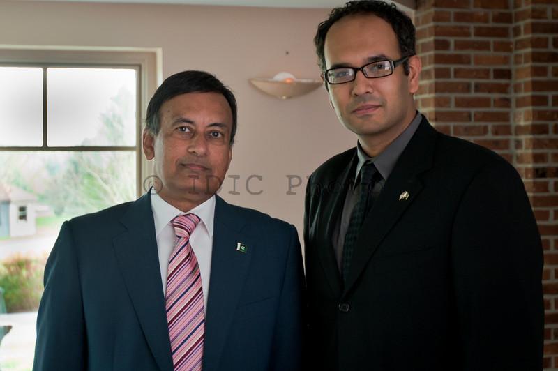 Armughan with Ambassador Haqqani