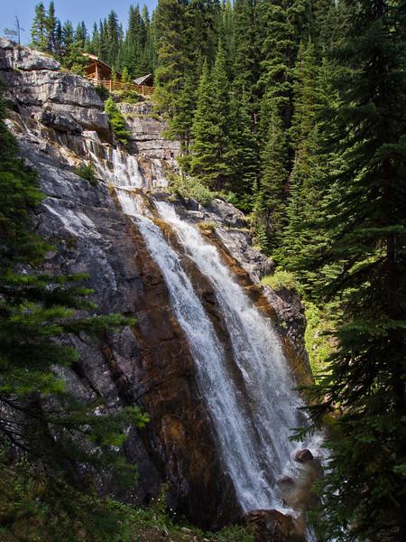 Waterfall at Lake Agnes teahouse