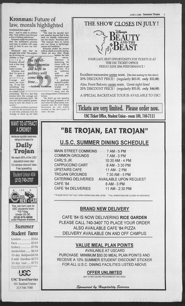 Summer Trojan, Vol. 128, No. 4, June 05, 1996