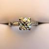 2.00ctw Antique Cushion Cut Diamond Wedding Set, GIA J VS1 38