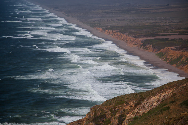 Beach and Surf at Point Reyes Lighthouse