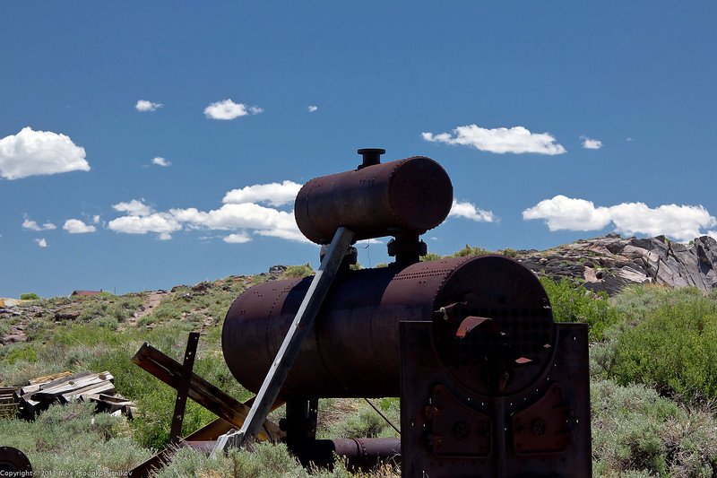 Bodie - remains of mining equipment