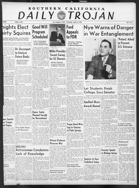 Daily Trojan, Vol. 32, No. 115, April 03, 1941